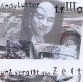 200枚限定CD 硬質な力学性と奥深いロマンティシズムが交錯する必殺パワフル抒情派ピアノ! ANDY LUTTER TRIO / UN & VERGIST DIE ZEIT