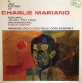 180g重量限定盤LP  CHARLIE MARIANO チャーリー・マリアーノ /  JAZZ PORTRAIT OF CHARLIE MARIANO チャーリー・マリアーノの肖像